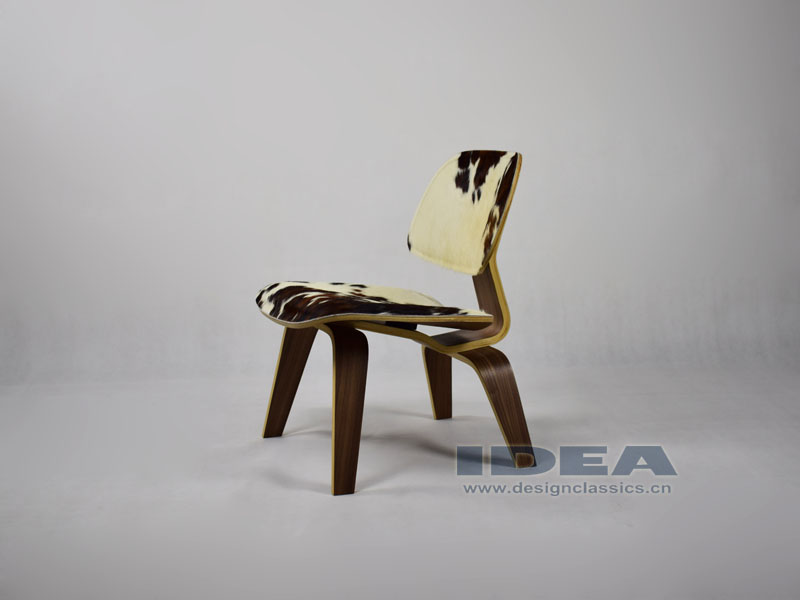 Eames Molded Plywood Lounge Chair Pony Leather
