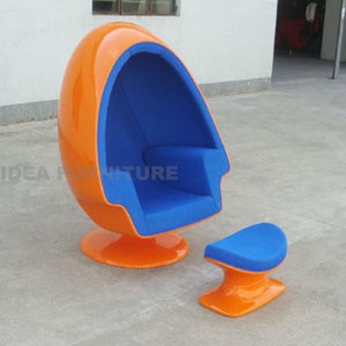 Alpha Egg Chair And Ottoman Alpha Shell Egg Chair And
