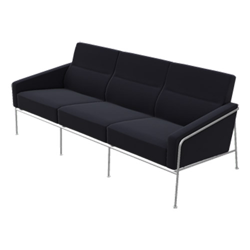 arne jacobsen series 3300 3 seater sofa. Black Bedroom Furniture Sets. Home Design Ideas