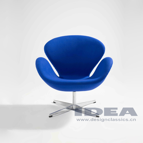 Swan Chair Blue Fabric