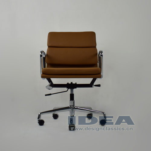 Eames Low Back Softpad Chair Brown