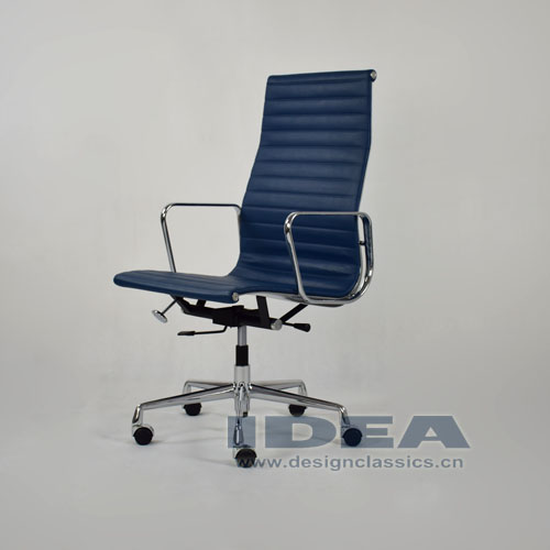 Eames Style Aluminum Office Chair Blue