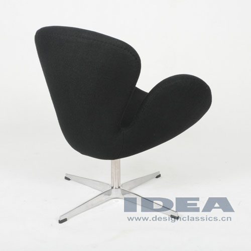 Swan Chair Black Fabric