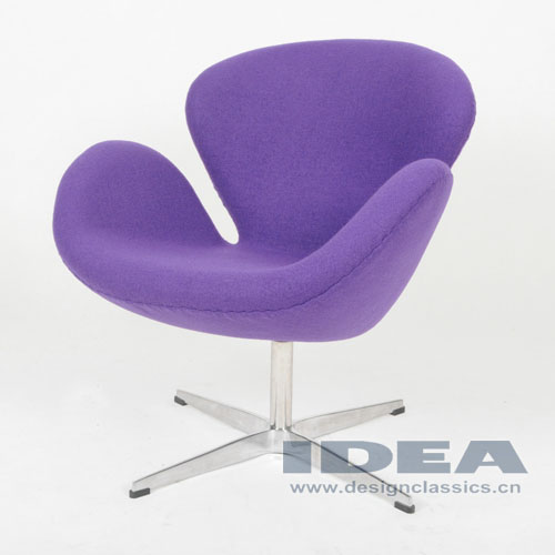 Swan Chair Purple Fabric