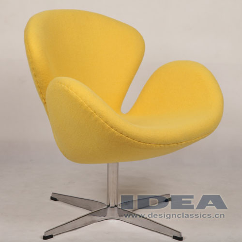 Swan Chair Yellow Fabric