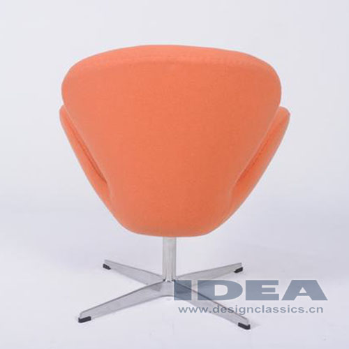 Swan Chair Orange Fabric