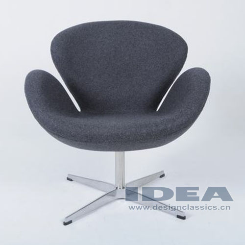 Swan Chair Grey Fabric