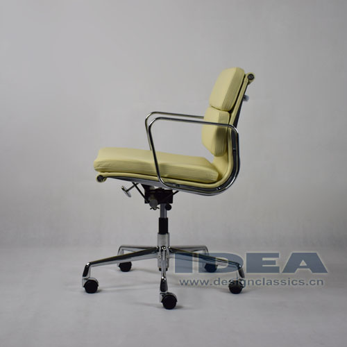 Eames Low Back Softpad Chair Cream White Leather