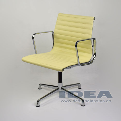 Charles And Ray Eames Office Chair Cream White Leather