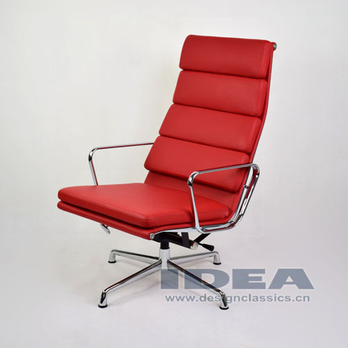 Eames Management Lounge Chair Red Leather