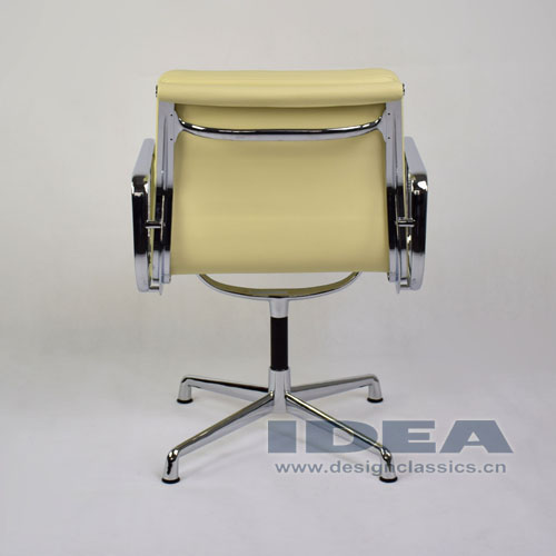 Eames Group Aluminum Management Chair Cream White Leather